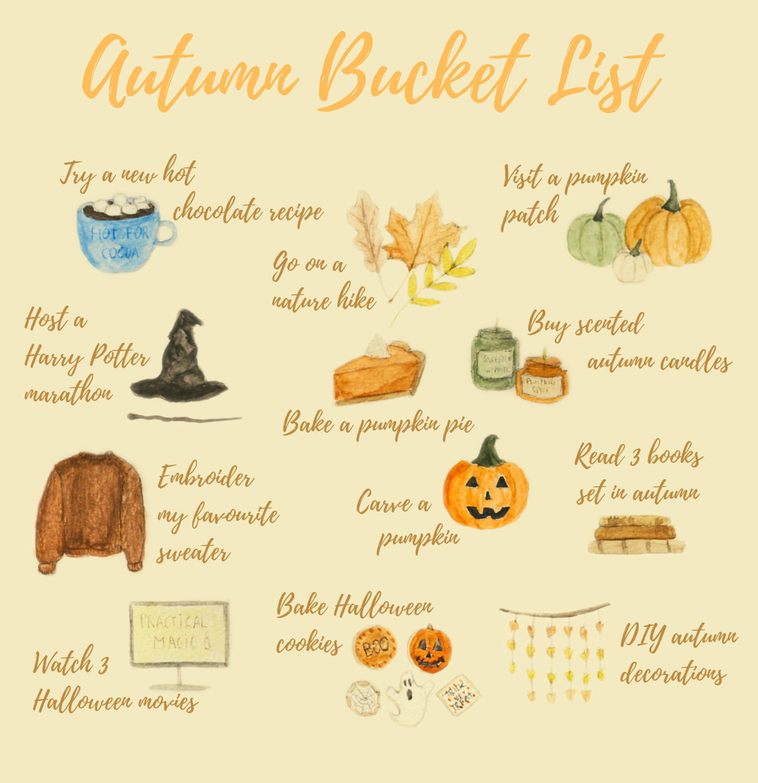 Autumn bucket list 2020