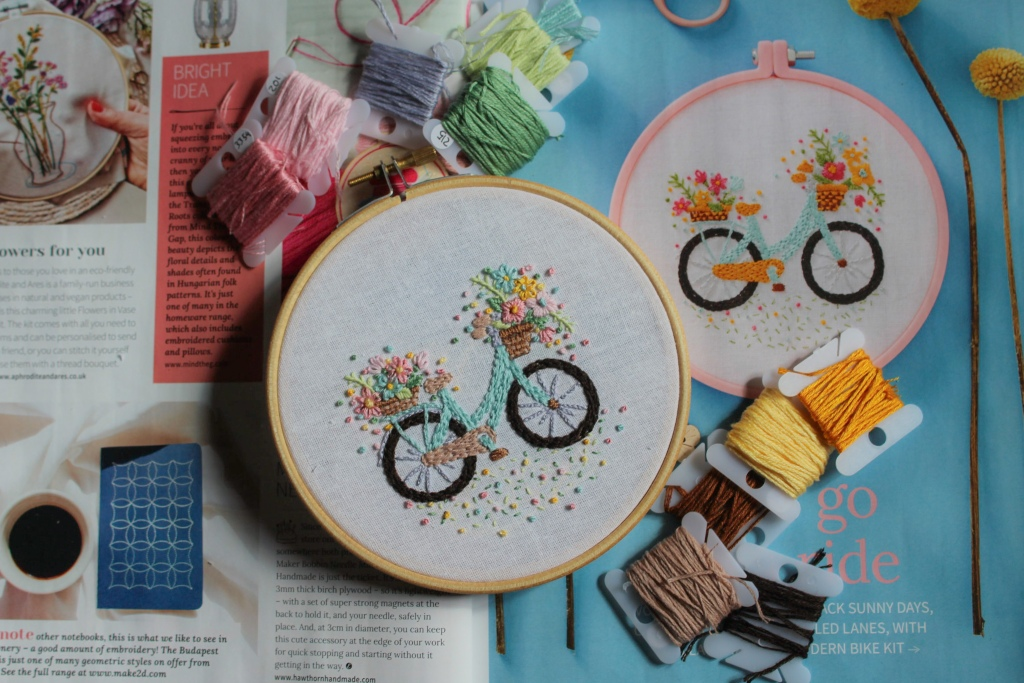 bike embroidery